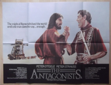 Antagonists. RARE Original UK Quad Poster, Peter O'Toole, MASADA!,'81